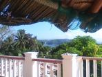 Sea view from the Nippa-Hut - very relaxing - overlooking from big terracce to the Ocean and beach.