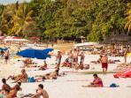 Sandy beach of trou aux biches