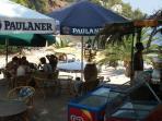 The beach bar