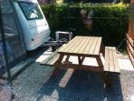 The outside dinning table