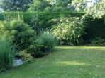 secluded lawn area