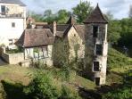 Vue du gîte et de la Dordogne