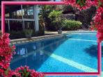 Glass enclosed key lockable villa for child safety with huge L shaped pool. Recently renovated.