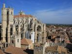 The abbey at Narbonne, an ancient Roman garrison town.