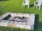 Outdoor Fire Pit.  Wood not supplied.