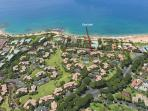 Aerial Photo of Ekahi Village - Our unit is steps away from the beach.