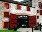 Jameson Midleton Distillery and Tours is only 10 min drive away