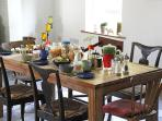 Breakfast table all set!