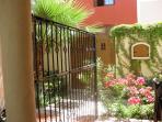 zaguan and courtyard