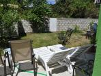 yard for sunning, bbq and just relaxing