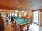 Enjoy friendly competition with the pool table.