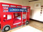 Children's bedroom - double decker bus bunk bed