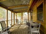 FULL VIEW OF THE LARGE SCREENED IN PORCH FOR ALL TO ENJOY!
