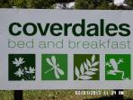 Our Sign near Jocelyn Drive entrance to Coverdales