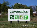 Our Sign at entrance to Coverdales