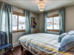 Bedroom 2 - Queen Bed, Ski Area View, Large Closet