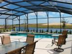 Huge lanai. Seating for 12+, very private with water view.