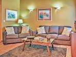 Plenty of comfortable seating arrangements in this welcoming living room