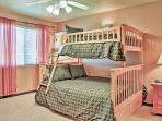 The kids will love the bunk bed room!