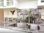 Granite counter tops in kitchen