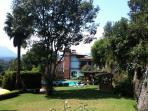 Vista del jardín trasero