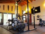 use of private gym on property.