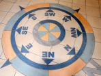 Tiles in entrance hall