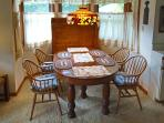 Dining area with antique oak table