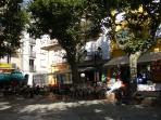 the shady village square, where the locals dance Sardane