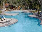 The woodsy pool offers those sunless folks a bit of shade along with movies, fire pits, grills.