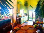 Kitchen toward Patio