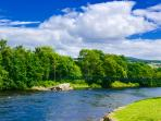 The River at Pitlochry near The Theatre - A Delightful town to visit and a great picnic spot.