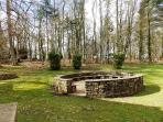 Outside the cottage is this wonderful woodland area, where you may see red squirrels and hear owls