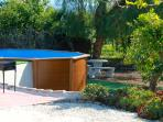 Private swimming pool overlooking the orange grove and the surrounding mountains