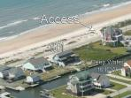View from air. unobstructed view of ocean, on canal