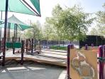 playground and tennis courts very close by walking distance