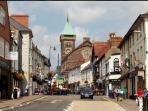 Abergavenny Town - 5 minute walk