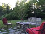 Back patio at twilight