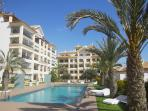 resort guardamar hill, building, pool,jacuzzi, garden.