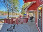 Admire stunning lake views from the private deck.