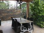 Outside dining area.