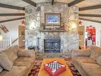 You'll feel perfectly at home in the comfortable living room.