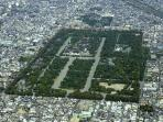 Imperial palace of Kyoto, is the very center in this city.Only 10 minutes walk from our house.