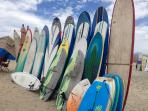 "Surfboards at ""ceritos"" beach"