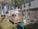 Yard and deck with gas grill, horseshoes and beach chairs in shed for your use - 14 Pine Ridge Road Chatham Cape Cod...