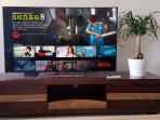 Enjoy complimentary Netflix on my 55' Sony Smart TV