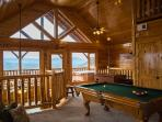 Enjoy the Mountain View and a game of pool