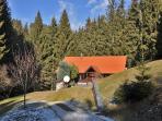 Rogla Lodge - lower driveway
