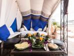 Terrace breakfast under the berber tent