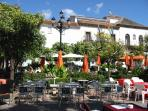 Orange Square in The Old Town - a ten minute walk away